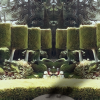 Image of a Fantasy Garden: Topiary bushes in 3d